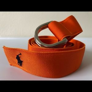 Ralph Lauren Orange Grosgrain Ribbon Belt